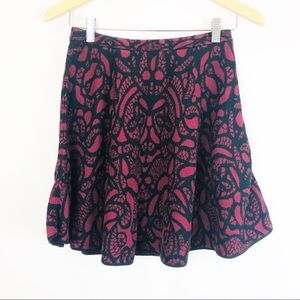 Mossimo Knit Skater Skirt with Print